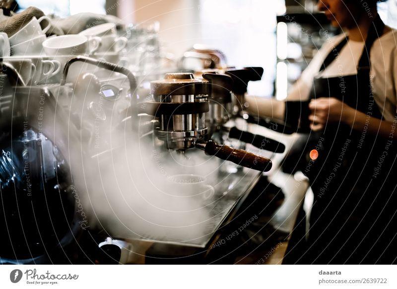 Morgen Kaffee Staub Getränk Heißgetränk Kakao Latte Macchiato Espresso Café Kantine Barista Lifestyle elegant Stil Design Freude Freizeit & Hobby Abenteuer