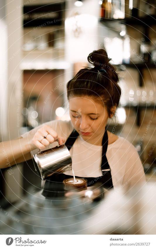 barista 2 Getränk Heißgetränk melken Kaffee Latte Macchiato Lifestyle Stil Freude Leben stimmig Freizeit & Hobby Abenteuer Freiheit Restaurant Bar Cocktailbar