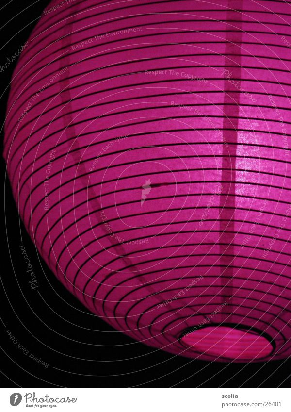 Lila Ballon Lampe Luftballon violett Häusliches Leben