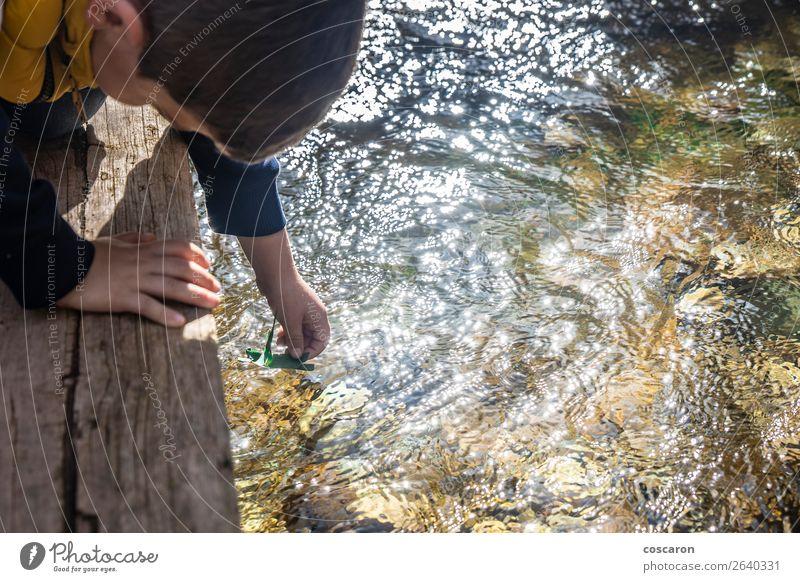 Kind Mensch Natur Sommer Pflanze grün Wasser Sonne Hand Freude Lifestyle Gefühle Familie & Verwandtschaft Glück Junge klein