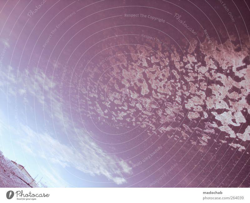 Mehr Schein als Sein Himmel Straße Wege & Pfade Klima Stern Perspektive Urelemente geheimnisvoll Ewigkeit Weltall Futurismus Surrealismus Planet Umweltschutz