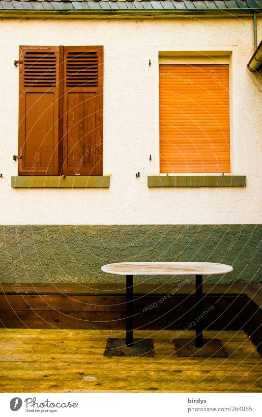 Variationen Terrasse Fassade außergewöhnlich frisch Häusliches Leben Rollladen Klappladen Tisch Holzfußboden geschlossen Fenster Fensterladen 3 Verschiedenheit