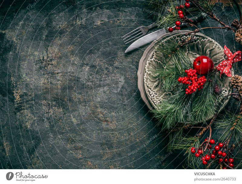 Weihnachten Hintergrund mit festliche Tischgedeck Weihnachten & Advent rot Winter Hintergrundbild Innenarchitektur Stil Feste & Feiern Party Häusliches Leben