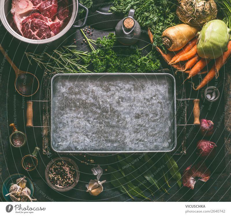 Hintergrund für Fleischbrühe, Suppen und Eintöpfe Lebensmittel Gemüse Kräuter & Gewürze Öl Ernährung Mittagessen Abendessen Bioprodukte Diät Geschirr Topf