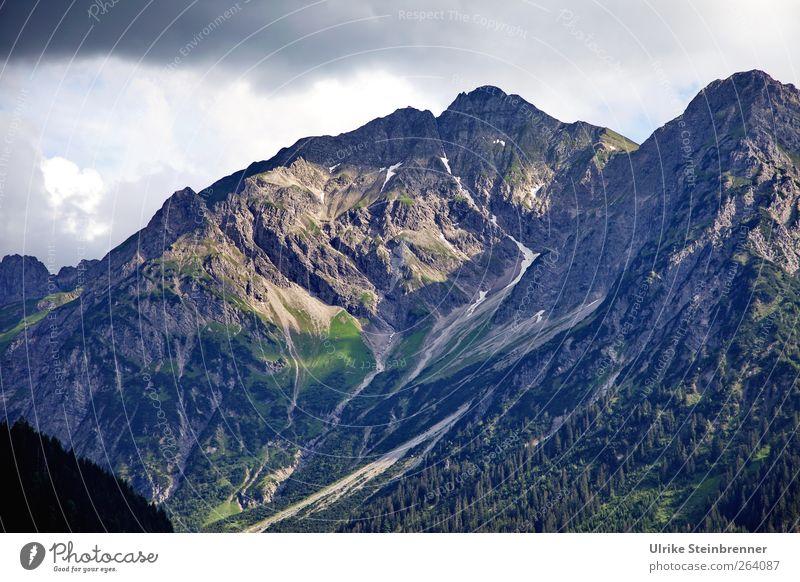 Für den Nordreisenden Ferien & Urlaub & Reisen Tourismus Abenteuer Sommer Berge u. Gebirge Umwelt Natur Landschaft Himmel Wolken Baum Gras Felsen Alpen