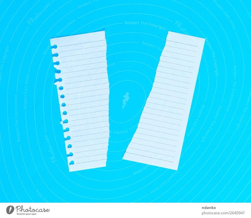 blau weiß oben Büro Idee Papier Sauberkeit planen Bildung Text Entwurf Hälfte Mitteilung Konsistenz geschnitten gerissen