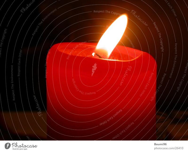 rote Kerze Dinge Flamme Lichterscheinung