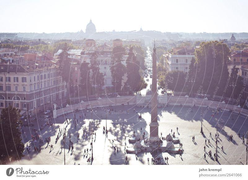 Rom II - Piazza del Popolo Italien Hauptstadt Stadtzentrum Altstadt Haus Platz Wahrzeichen Freundlichkeit Zusammensein Glück historisch Lebensfreude Idylle