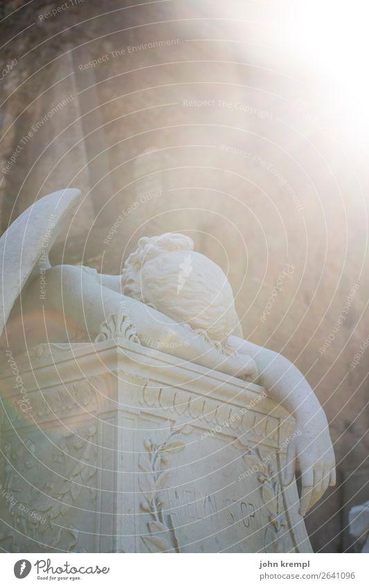 666 - Gefallener Engel Skulptur Rom Italien Hauptstadt Friedhof historisch Romantik Mitgefühl Traurigkeit Trauer Tod Protestantischer Friedhof