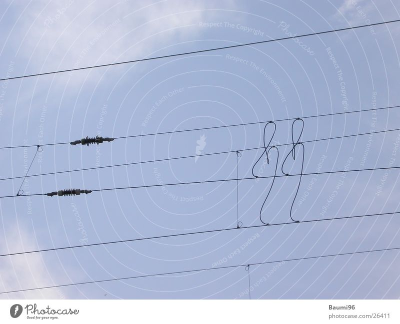 Hoch'Spannung' Eisenbahn Elektrizität Technik & Technologie Kabel Leitung Elektrisches Gerät