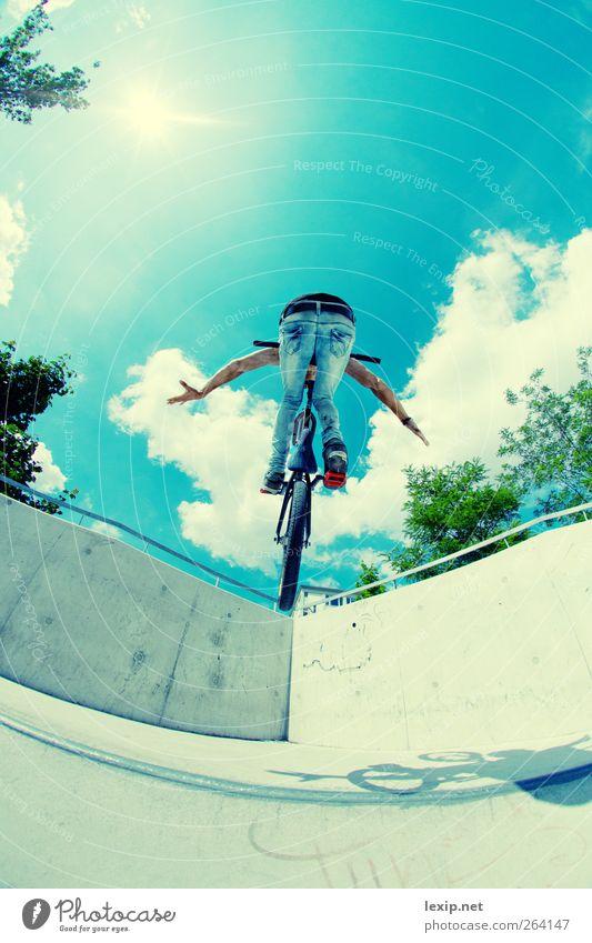 Nice Air Fitness Sport-Training Sportler Fahrradfahren BMX Bildung Telefon Handy Mensch maskulin Junger Mann Jugendliche 1 18-30 Jahre Erwachsene Wetter
