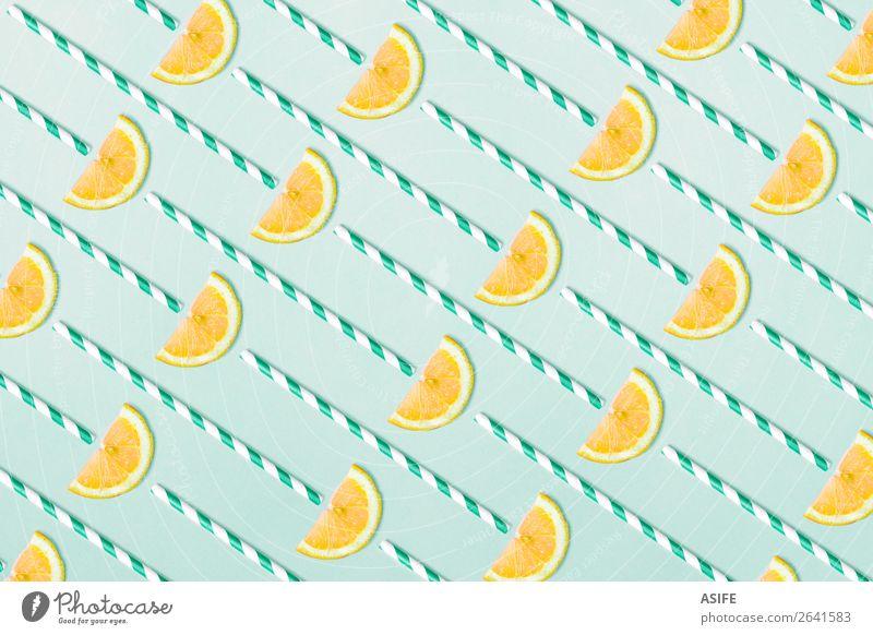 Sommer blau gelb natürlich lustig Menschengruppe Frucht oben Design Dekoration & Verzierung frisch trendy reif Erfrischung Vitamin Zitrone