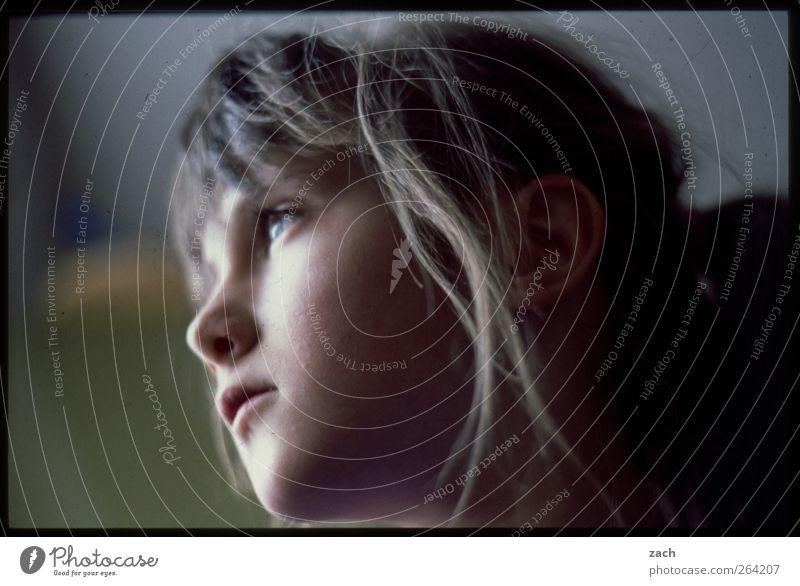 vor zwanzig Jahren Mensch feminin Kind Mädchen Kindheit Jugendliche Kopf Haare & Frisuren Gesicht 1 3-8 Jahre analog Dia Gedeckte Farben Außenaufnahme
