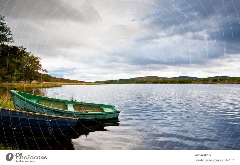 Himmel Natur blau Wasser grün Wolken Landschaft See Wetter natürlich Urelemente Seeufer Gewitterwolken Ruderboot