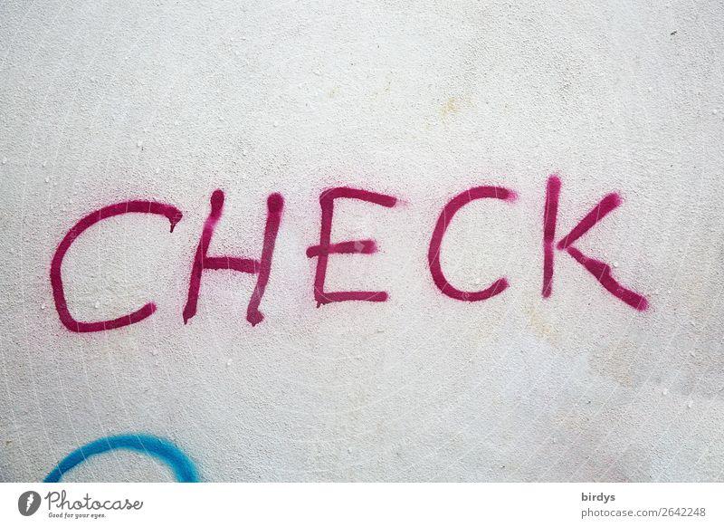 ...it out now Mauer Wand Schriftzeichen Graffiti Kommunizieren lernen authentisch Neugier blau rot weiß Sicherheit achtsam gewissenhaft Gerechtigkeit Interesse