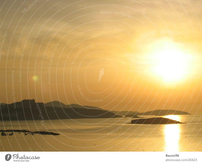hIbiza@Evening Strand Meer Sonnenuntergang Europa Wasser Sand Lichterscheinung Landschaft
