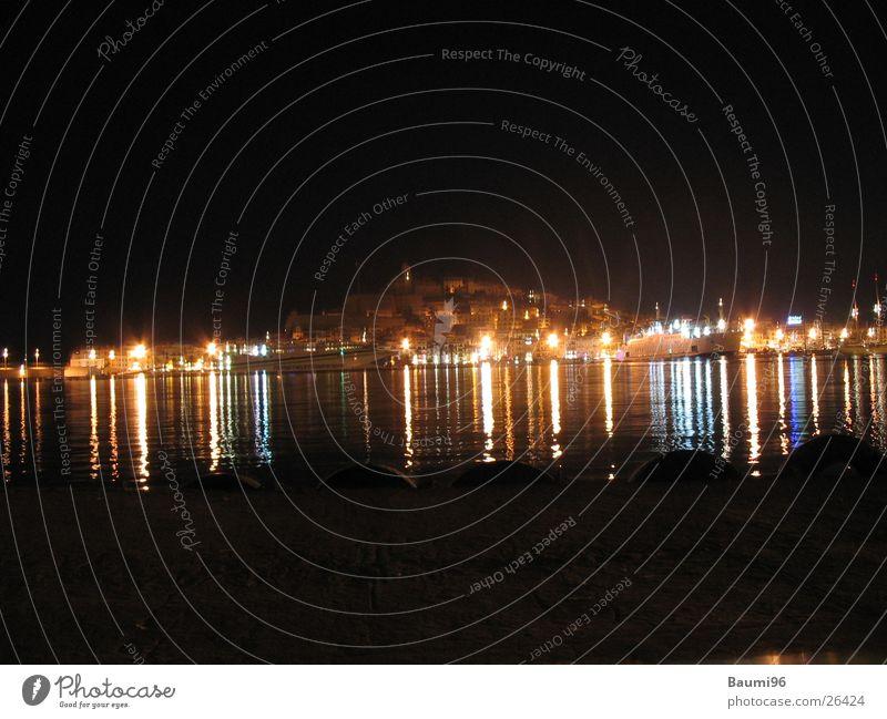 Ibiza@Night#2 Nacht Stadt Nachtleben Meer Bar Licht Europa beleutet
