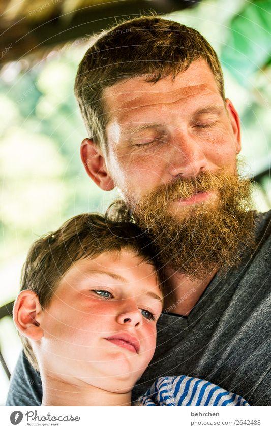 gemeinsam träumen Mensch maskulin Kind Junge Mann Erwachsene Eltern Vater Familie & Verwandtschaft Kindheit Kopf Haare & Frisuren Gesicht Auge Ohr Nase Mund