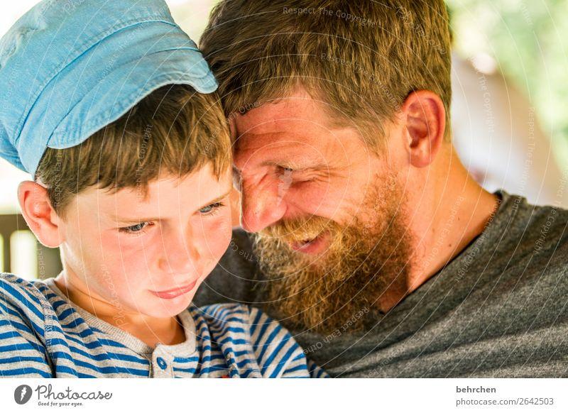 na los, lach mal wieder... Kind Mensch Mann Gesicht Auge Erwachsene Liebe Familie & Verwandtschaft lachen Junge Spielen Haare & Frisuren Kopf Zusammensein