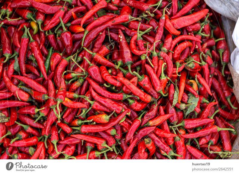 rot Lebensmittel natürlich oben Gemüse heiß horizontal Zutaten organisch