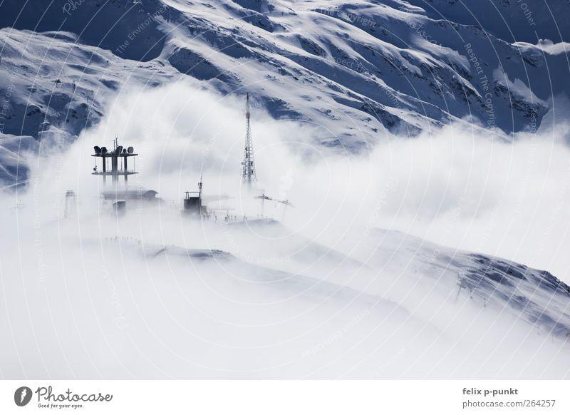 wolkig mit aussicht auf fleischbällchen Umwelt Natur Luft Wasser Himmel Wolken Winter Alpen Berge u. Gebirge Gipfel Schneebedeckte Gipfel Gletscher ästhetisch