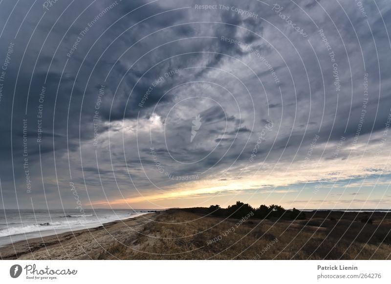 Nach uns die Sintflut Himmel Natur Meer Strand Wolken Einsamkeit Umwelt Landschaft dunkel Küste Luft Stimmung Wetter Wellen Wind Freizeit & Hobby