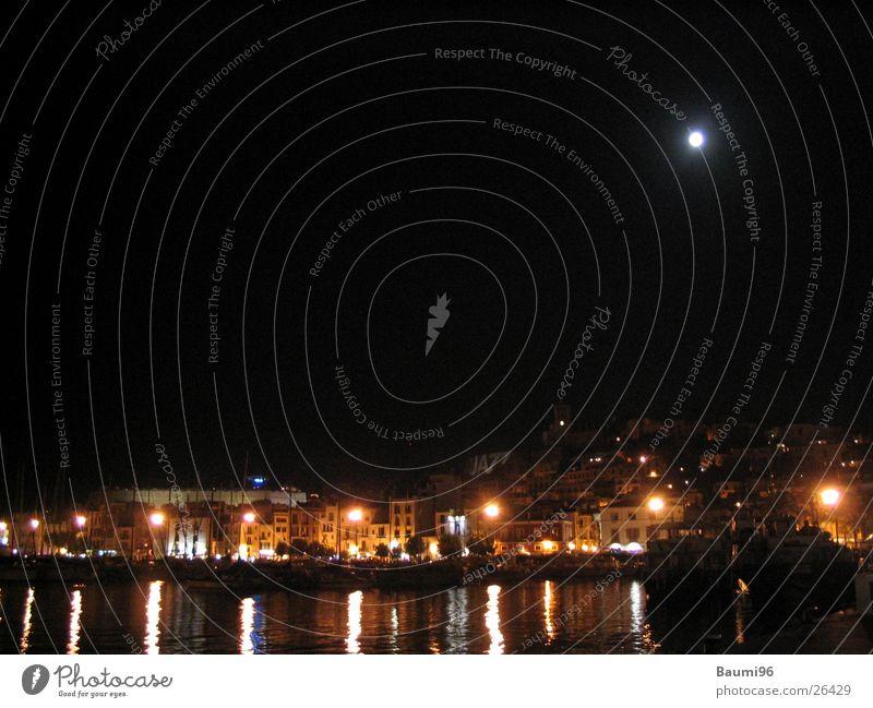 Ibiza@Night Nacht Stadt Nachtleben Meer Bar Licht Europa Mond beleutet