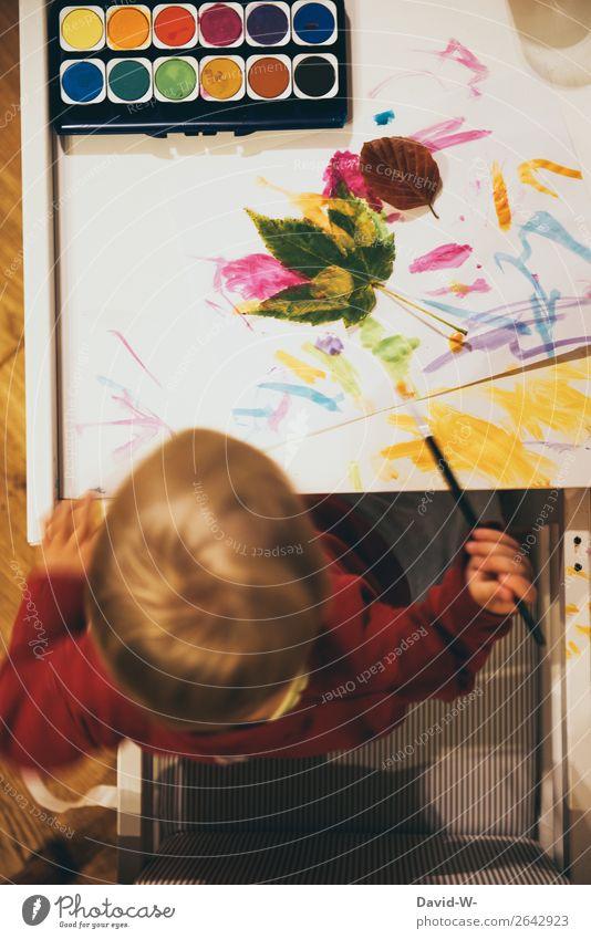 heute wird gebastelt! Kindererziehung Bildung Kindergarten lernen Mensch feminin Kleinkind Mädchen Junge Kindheit Leben Kopf Hand Finger 1 1-3 Jahre Kunst