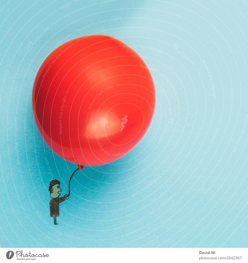 Riesenballon Lifestyle elegant Stil Design Zufriedenheit Spielen Basteln Geburtstag Mensch maskulin Junger Mann Jugendliche Erwachsene Kindheit Leben 1 Kunst
