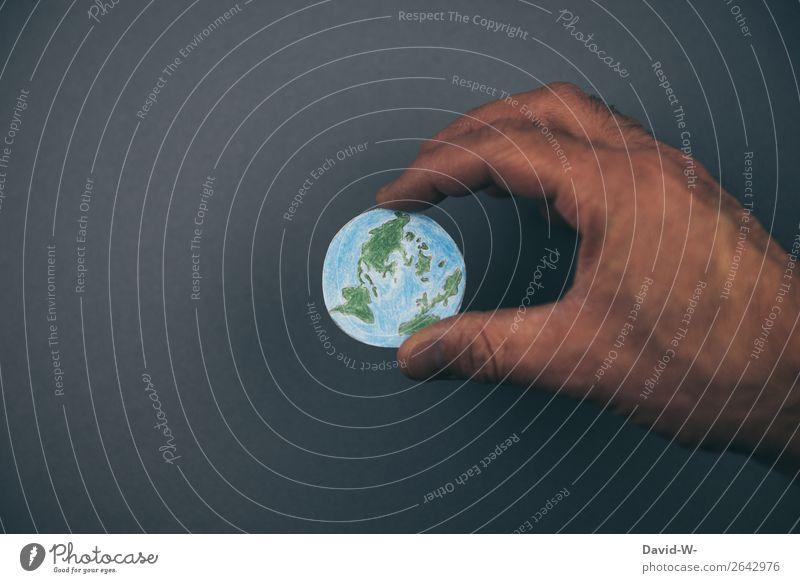 die Welt in Händen halten Erde Globus Zukunft Zukunftsangst Leben Verantwortung verantwortungsbewusstsein Zerstörung Verfall Nachhaltigkeit nachhaltig Klima