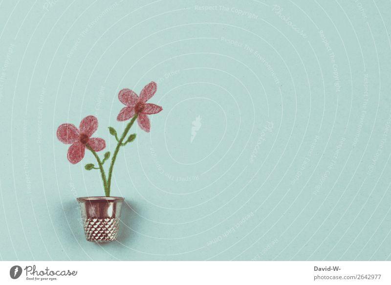 Fingerhut tut Blume gut Basteln Feste & Feiern Muttertag Hochzeit Geburtstag Taufe Mensch Leben Kunst Kunstwerk Gemälde Umwelt Natur Schönes Wetter Pflanze