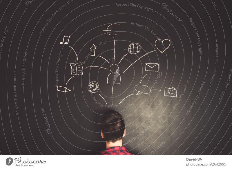 Planung Mensch Jugendliche Mann Junger Mann Freude Lifestyle Erwachsene Leben sprechen Umwelt Liebe Glück Stil Business Kunst Kopf