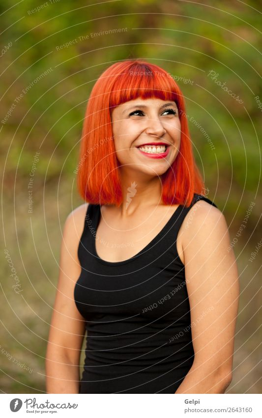 Porträt einer rothaarigen Frau Lifestyle Stil Freude Glück schön Gesicht Wellness ruhig Ferien & Urlaub & Reisen Mensch Erwachsene Natur Landschaft Wolken See
