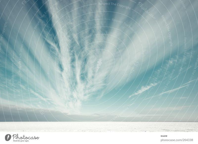 Schnee am Horizont Himmel Natur blau weiß Meer Strand Wolken Winter Landschaft Umwelt kalt Küste hell Luft