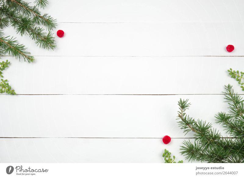 Kreatives Weihnachtslayout. Design Glück Winter Schnee Dekoration & Verzierung Feste & Feiern Handwerk einfach oben grün rot weiß Kreativität Hintergrund