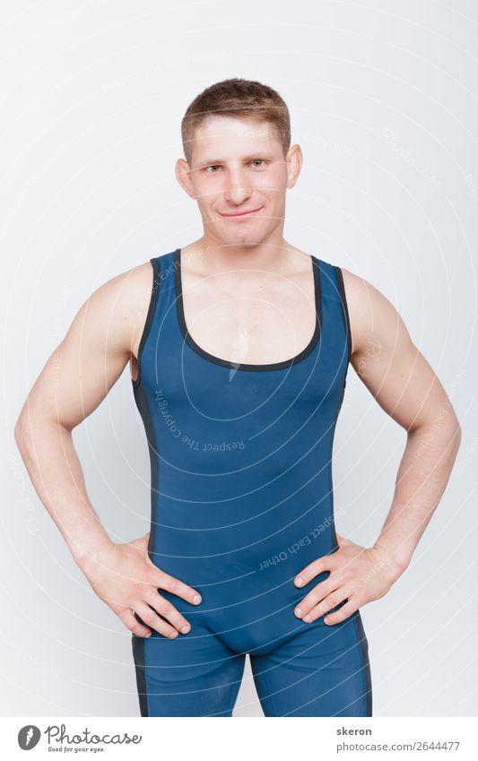 der Typ im Ringertrikotard Lifestyle Stil Design schön Körperpflege Sport Fitness Sport-Training Sportler Erfolg Verlierer Kindererziehung Bildung