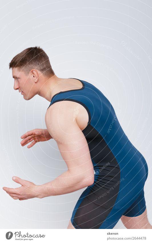 Mensch Jugendliche blau Junger Mann 18-30 Jahre Lifestyle Erwachsene Sport Gefühle Spielen außergewöhnlich Mode Stimmung Freizeit & Hobby maskulin Kultur