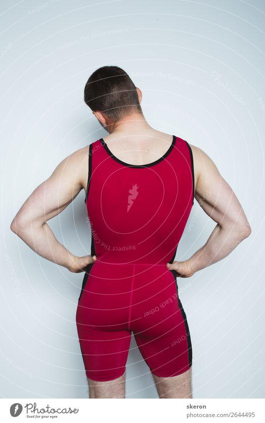 Mensch Jugendliche Junger Mann rot Erotik 18-30 Jahre Lifestyle Erwachsene Sport Spielen Mode Arbeit & Erwerbstätigkeit Freizeit & Hobby maskulin glänzend