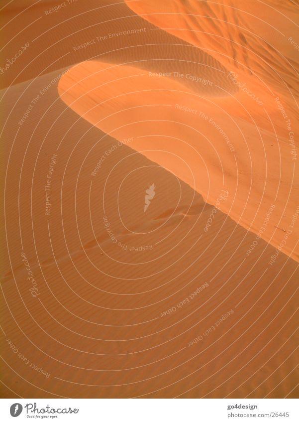 Wüstenwelle rot Berge u. Gebirge Wärme Sand Wellen Physik Dubai Sahara