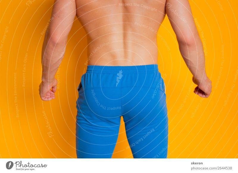 Sportarsch der Männer in farbigen Shorts Lifestyle elegant Stil Fitness Sport-Training Sportler Mensch maskulin Homosexualität Junger Mann Jugendliche