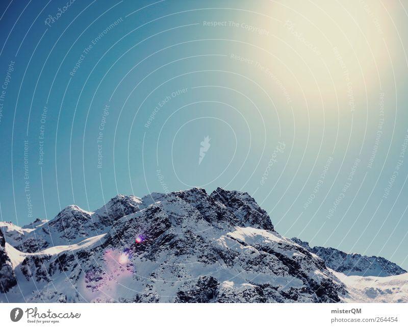 Schneekoppe. Himmel Natur Sonne Winter ruhig Umwelt Landschaft kalt Berge u. Gebirge hoch ästhetisch Alpen Schneelandschaft Österreich Berghang Schneebedeckte Gipfel