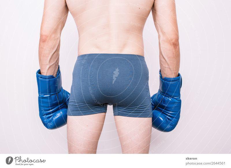 der Boxer in Unterwäsche und Boxhandschuhen. Lifestyle elegant Gesundheit Gesundheitswesen Freizeit & Hobby Spielen Entertainment Party Veranstaltung Sport