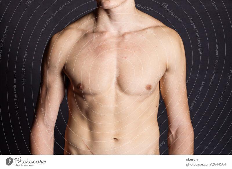 muskulöser junger Mann mit nacktem Oberkörper Lifestyle schön Körperpflege Gesundheit Gesundheitswesen Freizeit & Hobby Restaurant Club Disco Sport Fitness