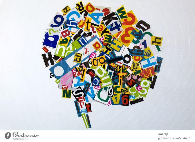 Talk to me sprechen Kunst modern Design Kommunizieren Zukunft Schriftzeichen Zeichen Kreativität Typographie chaotisch Wort durcheinander Fragen Irritation abstrakt