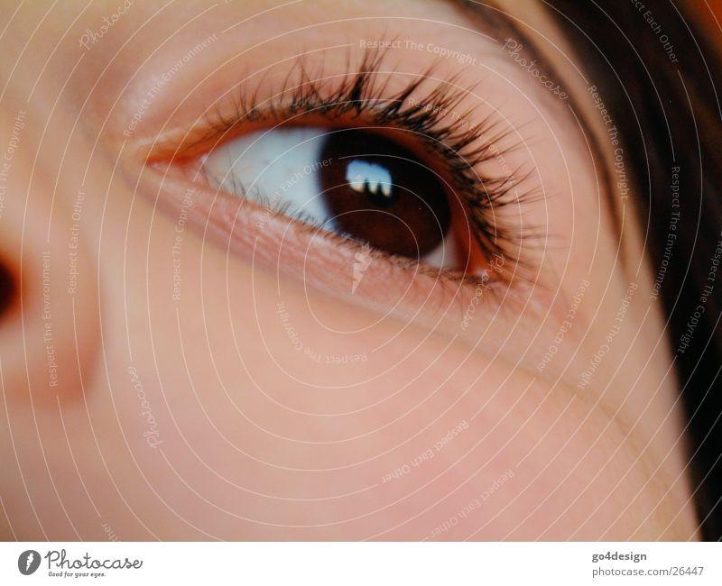 Die Welt mit Kinderaugen sehen Frau Mädchen Gesicht Auge Haut Nase Wange Wimpern Lied Augenbraue Linse Regenbogenhaut