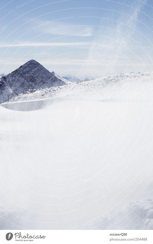 Schneewehe. Kunst ästhetisch Schneelandschaft Schneeflocke Schneesturm Schneedecke Winter kalt Temperatur Grad Celsius ungemütlich Sonne Wintersonne Wetter