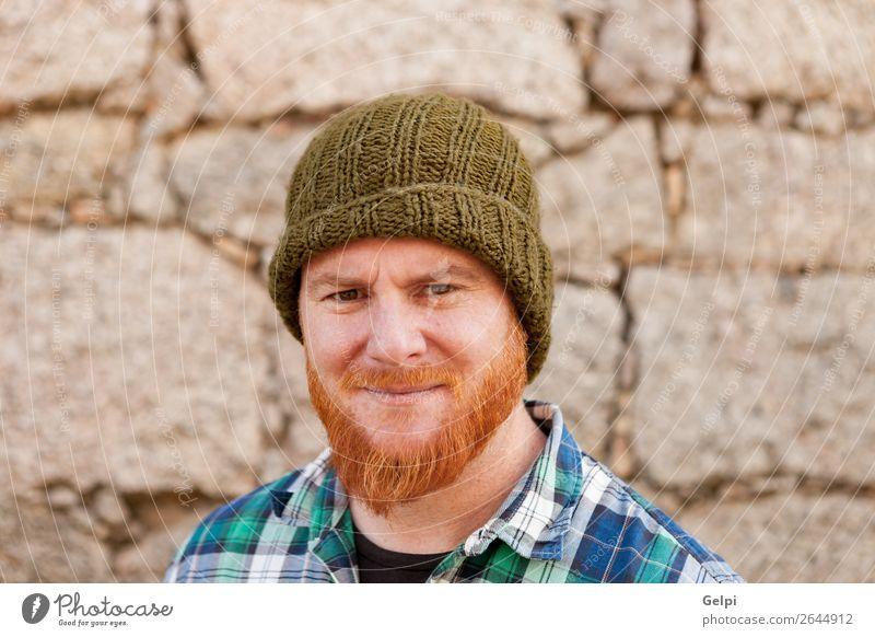 Mensch Mann weiß rot Gesicht Erwachsene Gefühle lachen Glück Junge außergewöhnlich Haare & Frisuren modern Lächeln niedlich Beautyfotografie