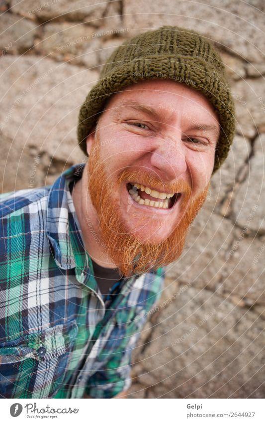 Mensch Mann weiß rot Gesicht Erwachsene Gefühle Junge außergewöhnlich Haare & Frisuren modern verrückt niedlich Beautyfotografie Wut Model