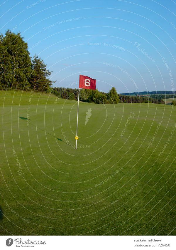 Wie ein Fähnchen im Wind Sport Wind Fahne Golfplatz