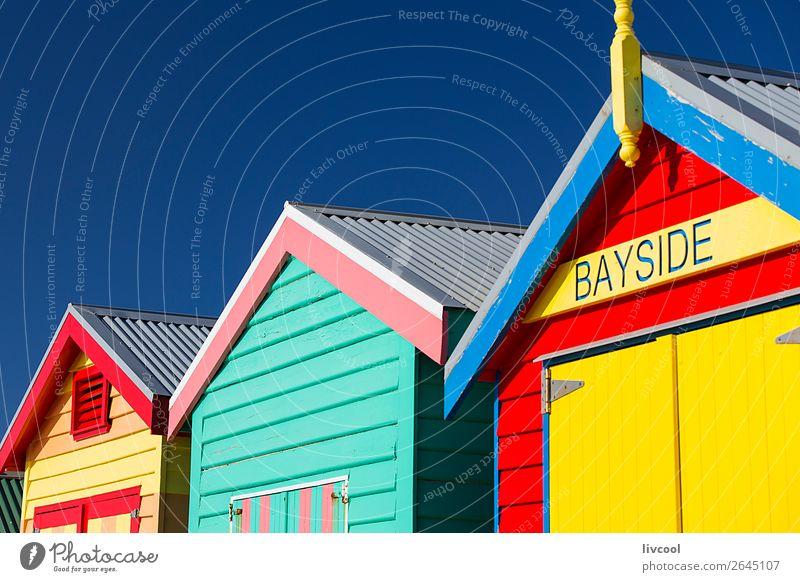 Ferien & Urlaub & Reisen blau Farbe schön grün Landschaft rot Haus Architektur Lifestyle Graffiti gelb lustig Küste Glück Gebäude